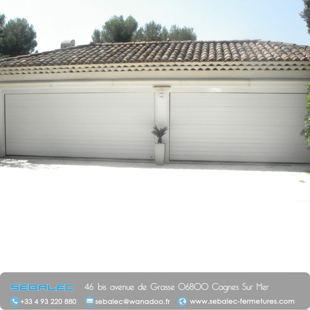 Les portes de garage sebalec portails automatis s dans for Porte de garage a enroulement